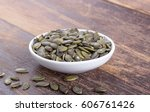 porcelain bowl with green... | Shutterstock . vector #606761426