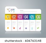folder infographics design... | Shutterstock .eps vector #606763148