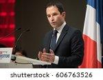 paris  france   february 5 ... | Shutterstock . vector #606763526