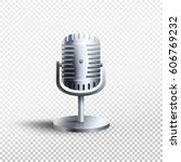 microphone icon. vector... | Shutterstock .eps vector #606769232
