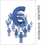 crowd and euro | Shutterstock . vector #60676993