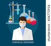 chemical designer conceptual... | Shutterstock .eps vector #606772916