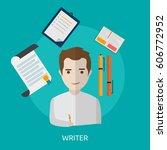 writer conceptual design | Shutterstock .eps vector #606772952