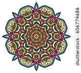 mandala. vector ethnic oriental ... | Shutterstock .eps vector #606774686