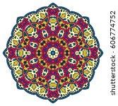 mandala. vector ethnic oriental ... | Shutterstock .eps vector #606774752