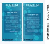 leaflet flyer layout. magazine... | Shutterstock .eps vector #606777986