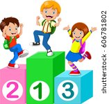 kids playing with number blocks   Shutterstock . vector #606781802