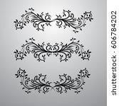 vintage decor elements vector... | Shutterstock .eps vector #606784202