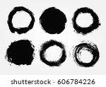 vector grunge circles.grunge... | Shutterstock .eps vector #606784226