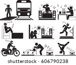 man music icon set | Shutterstock .eps vector #606790238