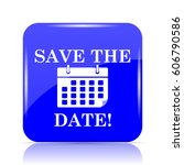 save the date icon  blue... | Shutterstock . vector #606790586