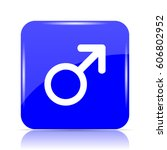 male sign icon  blue website... | Shutterstock . vector #606802952