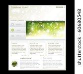 business website template in... | Shutterstock .eps vector #60680548