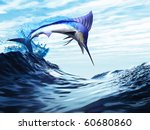 Jump   A Beautiful Blue Marlin...