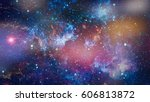 space many light years far from ... | Shutterstock . vector #606813872