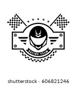 racing badges. themed logos ... | Shutterstock .eps vector #606821246