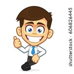 businessman leaning on an empty ... | Shutterstock .eps vector #606826445