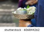 songkran festival  sacred water ... | Shutterstock . vector #606844262