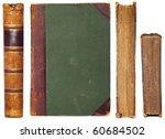 Vintage Book Sides Set   Spine...