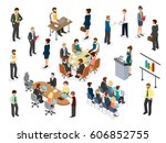 business corporate lifestyle of ... | Shutterstock .eps vector #606852755