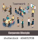 business corporate lifestyle at ... | Shutterstock .eps vector #606852938