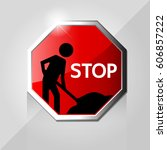 safety signs vector icon... | Shutterstock .eps vector #606857222