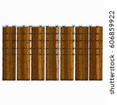 wood fence with barbed wire.... | Shutterstock .eps vector #606859922