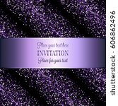 invitation or greeting card... | Shutterstock .eps vector #606862496