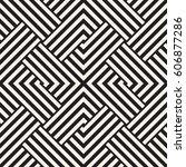 repeating geometric stripes...   Shutterstock .eps vector #606877286