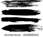 set of grunge brush strokes | Shutterstock .eps vector #606888362