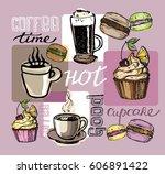 hand drawn doodle illustration... | Shutterstock .eps vector #606891422
