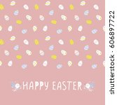 seamless pattern with easter... | Shutterstock .eps vector #606897722