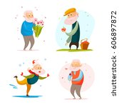 vector flat collection of... | Shutterstock .eps vector #606897872