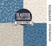 set of seamless backgrounds... | Shutterstock .eps vector #606908336