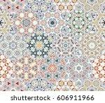 a rich set of hexagonal ceramic ... | Shutterstock .eps vector #606911966