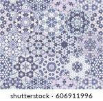 a rich set of hexagonal ceramic ... | Shutterstock .eps vector #606911996