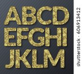 abc.vector graphic alphabet in... | Shutterstock .eps vector #606913412