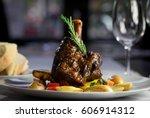 gourmet restaurant dinner meat...