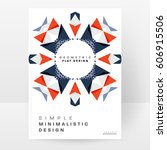 memphis geometric background... | Shutterstock .eps vector #606915506