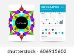 memphis geometric background... | Shutterstock .eps vector #606915602