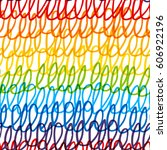 seamless pattern with rainbow... | Shutterstock .eps vector #606922196