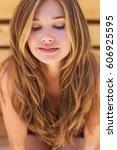 beautiful woman | Shutterstock . vector #606925595
