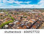 Panoramic Aerial View Of Delft...