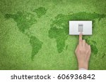 energy saving and ecological... | Shutterstock . vector #606936842