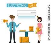 successful salesman in... | Shutterstock .eps vector #606938192
