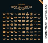 crown collection set | Shutterstock .eps vector #606938522
