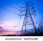 high voltage post | Shutterstock . vector #60694288