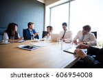 businesspeople in conference... | Shutterstock . vector #606954008