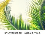 palm sunday background with... | Shutterstock . vector #606957416