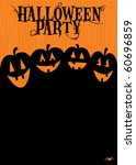 halloween party invitation | Shutterstock .eps vector #60696859